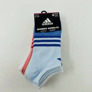 Adidas Shoe Size 5-10 Superlite Compression Socks